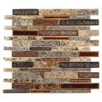 Scottsdale Brass – Tranquil Random Brick Glass Series – Glazzio Glass Tile