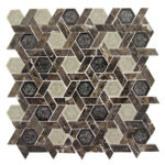 Capitol Archive – Tranquil Hexagon Glass Series – Glazzio Glass Tile