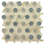Mansion Drive – Tranquil Hexagon Glass Series – Glazzio Glass Tile