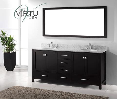 "Caroline Avenue 72"" Double Sink Bathroom Vanity GD-50072 2"