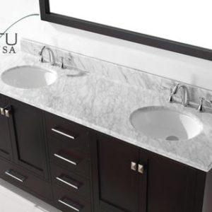"Caroline Avenue 72"" Double Sink Bathroom Vanity GD-50072"