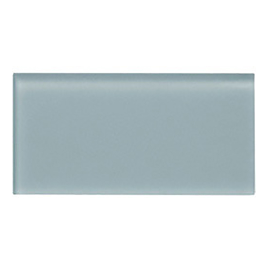 Gl Subway Frosted Ocean Grey 3x6