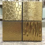 Metal Art 4×4 Gold – Metal Art Series – Soho Glass Tile