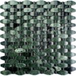 Verde – Lushan Green with Mongolia Black Dots – Stone Peak Glass Series – Soho Glass Tile