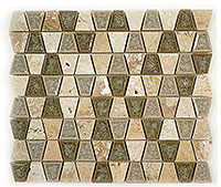 Tranquil Trapezoid Restful Sage glass tile 2