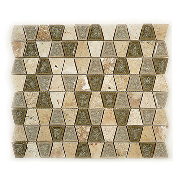 Tranquil Trapezoid Restful Sage glass tile